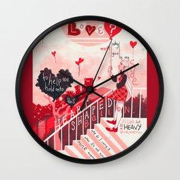Heart Shaped Balloon Wall Clock