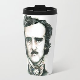 Edgar Allan Poe and Ravens Travel Mug