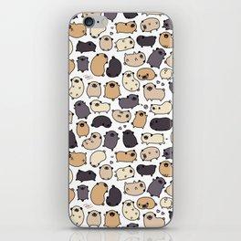 Pug Life Doodle iPhone Skin