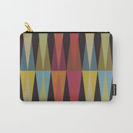 Party Argyle on Chocolate Brown Carry-All Pouch