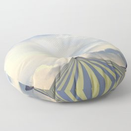 Turrets in the Clouds Floor Pillow