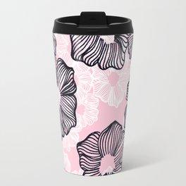 Ink Flowers Travel Mug
