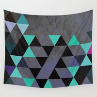 cracked Wall Tapestries featuring Cracked Metal by Bakmann Art
