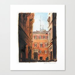 Italy in Yellow Canvas Print
