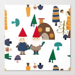 Gnome white Canvas Print