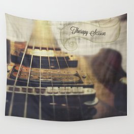 Therapy Session Guitar Wall Tapestry