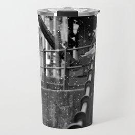 Seagull in Winter | Black&White Photography | Bamberg Travel Mug