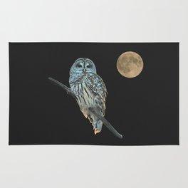Owl, See the Moon Rug