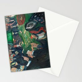 At the Roulette Table in Monte Carlo by Edvard Munch Stationery Cards