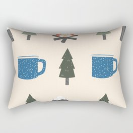 Camping Pattern Rectangular Pillow