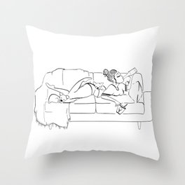 Weekend Mode. Throw Pillow