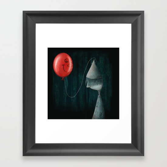 The Boy and the Balloon Framed Art Print