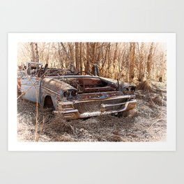 Abandoned Vintage Car  Art Print