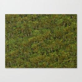 Noisy Pixel Forest Canvas Print