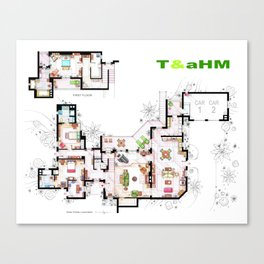 Beach House of Charlie Harper from TAAHM Canvas Print