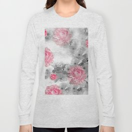 ROSES PINK WITH CHERRY BLOSSOMS Long Sleeve T-shirt