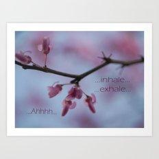 Ahhh Meditation Art Print