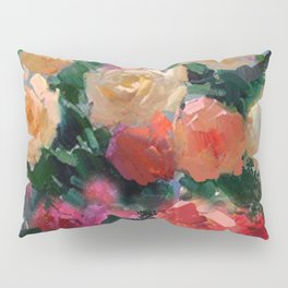 Yellow & Pink Roses Pillow Sham