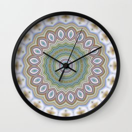 Green mandala 6 Wall Clock