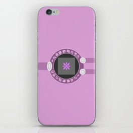 Digivice phone | Pink, Hikari Yagami version iPhone Skin