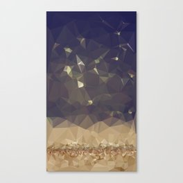 Glitter Rain Canvas Print