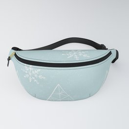 Merry Christmas Mint Fanny Pack