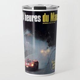 Le Mans poster, 1971, Le Mans t shirt, vintage car poster Travel Mug