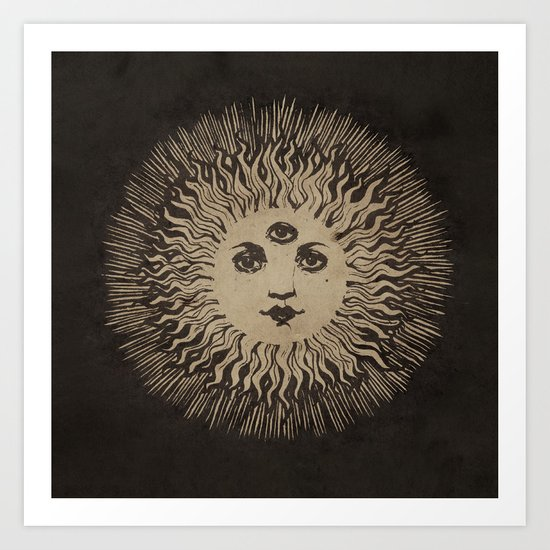 Three Eyed Sun Art Print