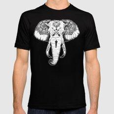 Elephant Tattooed MEDIUM Black Mens Fitted Tee