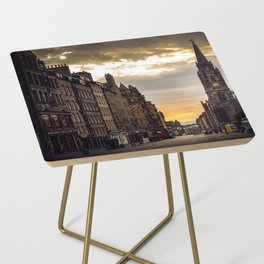 Royal Mile Sunrise in Edinburgh, Scotland Side Table