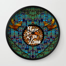Hate Free Zone Wall Clock