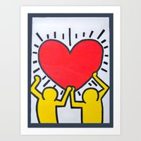 keith haring Art Prints featuring Keith Haring by Et Voilà
