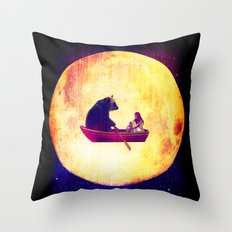 Moon Flight Throw Pillow