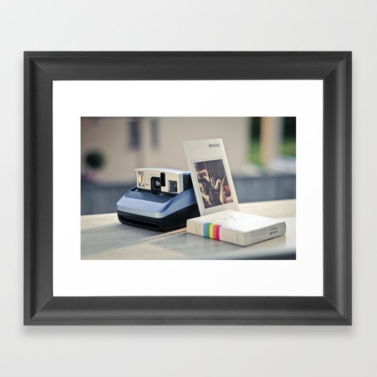 Never Ending Polaroid Framed Art Print