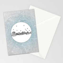Brooklyn, New York City Skyline Illustration Drawing Stationery Cards