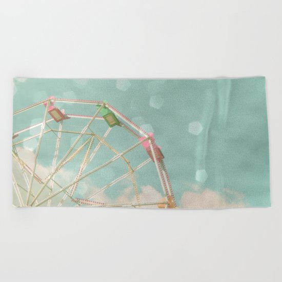 Candy Wheel Beach Towel