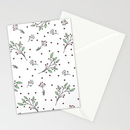 Holiday Floral Stationery Cards