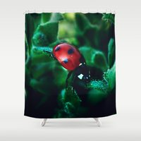 lady Shower Curtains featuring Lady by Robert Payton