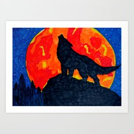 Wolf's Cry Art Print