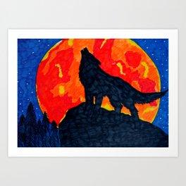 Wolf's Cry Art Print