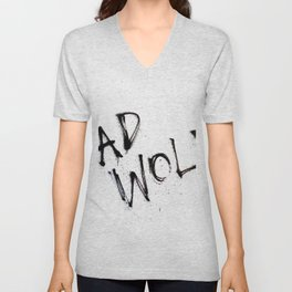 Doctor Who bad wolf Unisex V-Neck