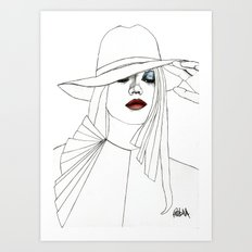 Blue Eyeshadow Art Print