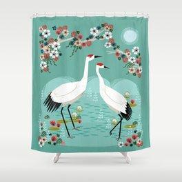Cranes by Andrea Lauren Shower Curtain