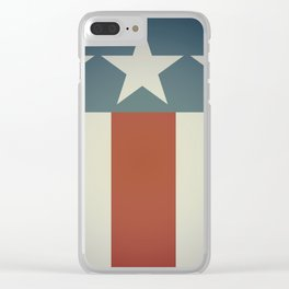 Three Starred Spangle Banner Clear iPhone Case