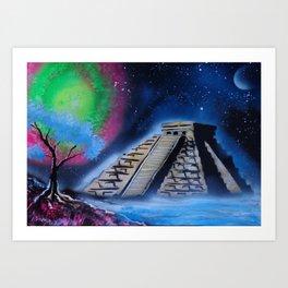 Mayan World By The Sea Art Print