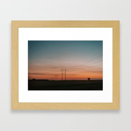 Manitoba Sunset Framed Art Print