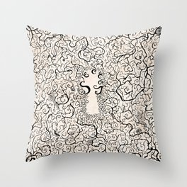 Parchment Secret Throw Pillow