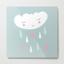 Cute cloud Metal Print