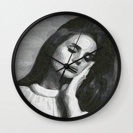 cocaine heart Wall Clock