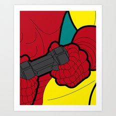 The secret life of heroes - IronGame Art Print
